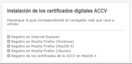 Instalación de certificados en navegadores